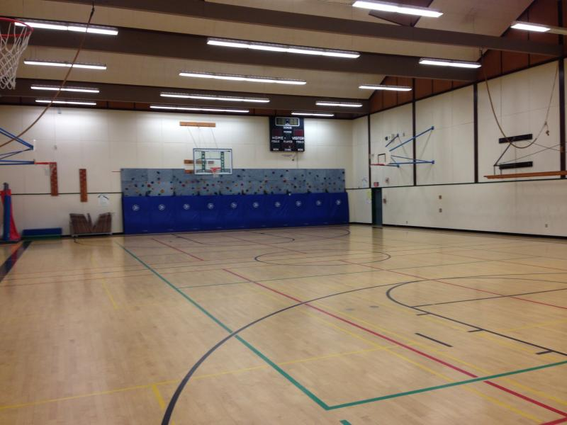 One of two gymnasiums at Hamlin Middle School in Springfield.