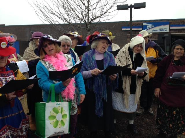 """Raging Grannies"" Sing Non Christmas Protest Songs"