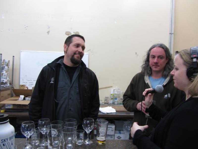 Matt VanWyck of Oakshire, Jason Carriere of Falling Sky & Angela Kellner of KLCC.
