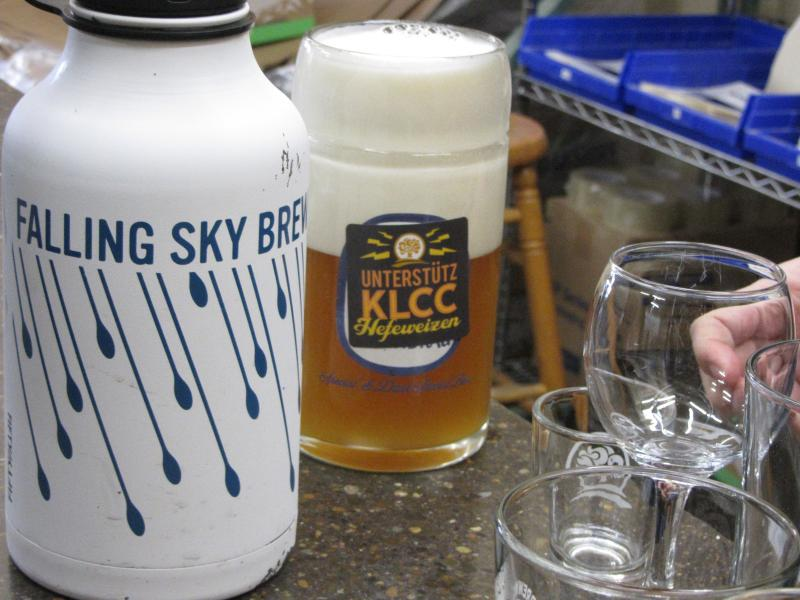Falling Sky Brewing & Oakshire both made Collaboration Brews for the 2014 KLCC Microbrew Fest.