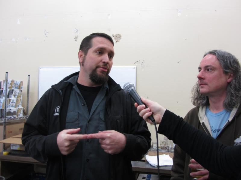 Matt VanWyck of Oakshire and Jason Carriere of Falling Sky.