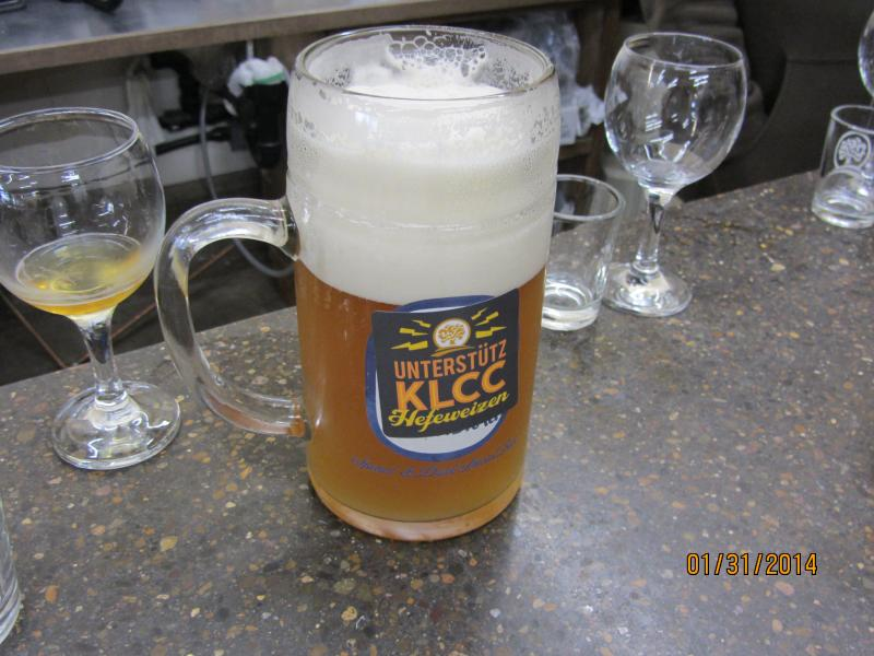 Oakshire Brewing's German Collaboration Brew is Unterstutz KLCC Hefeweizen.