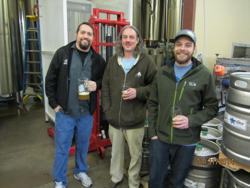 Matt VanWyck of Oakshire and Jason Carriere and Scott Siebar of Falling Sky.