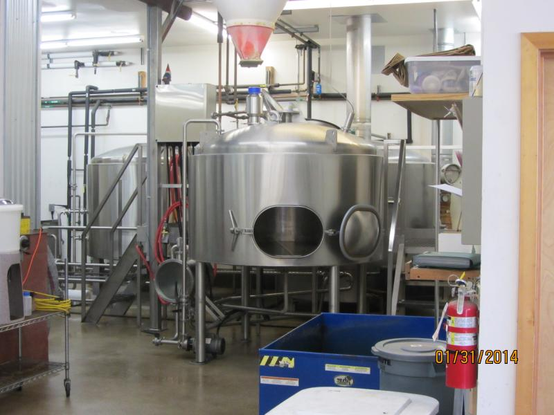 Inside the Oakshire Brewery in Eugene.