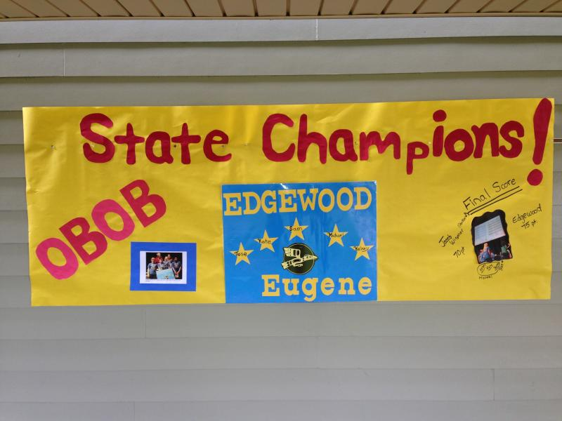 Students came to school Monday and found out that five of their Edgewood classmates took home first place in the OBOB state finals.
