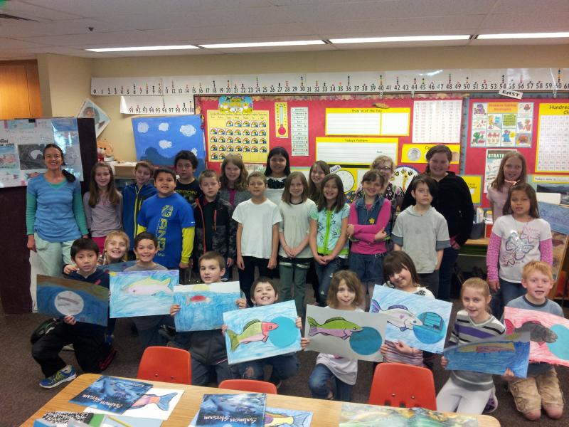 Dolly Green's 3rd grade class at Siuslaw Elementary School.