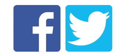 Image result for facebook and twitter logo