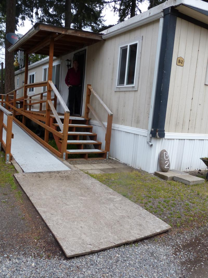 Grant Turner Built The Wheelchair Ramp For His Wife But Walkway On Rented Lot Has Never Been Made Accessible By Park
