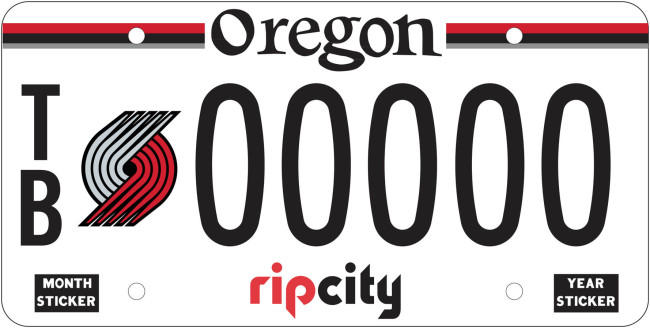 Strong Demand Expected As Trail Blazers License Plates Go On Sale ...