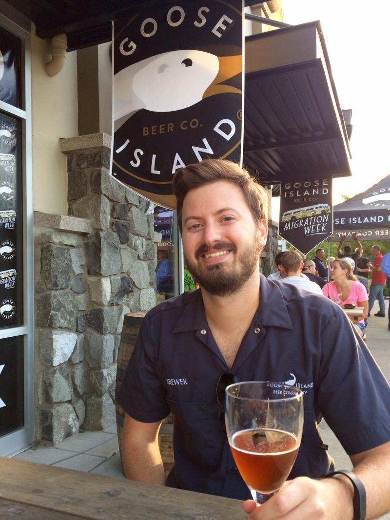 Patrick Reisch, Lead Cellarman for Goose Island.