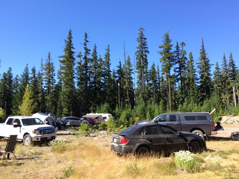 Bigfoot Field Researchers Organization camp in Mt. Hood area.