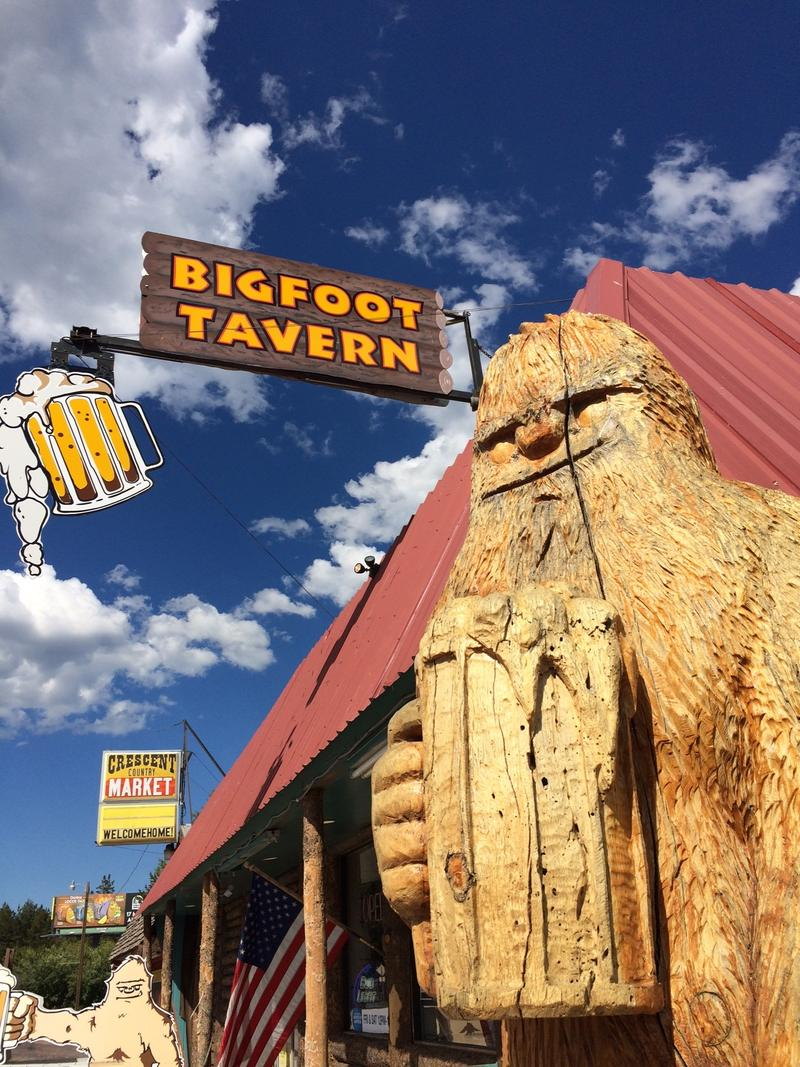 Bigfoot is also a popular brand, such as with this tavern in Crescent, Oregon.