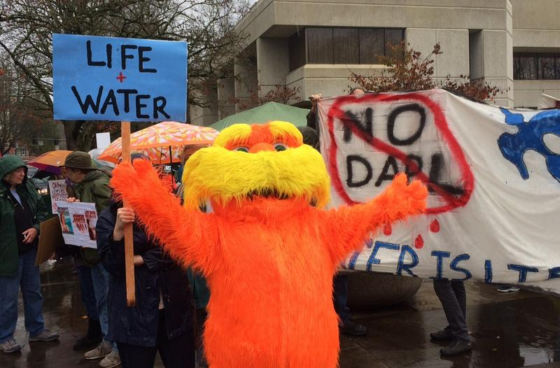 The Lorax stands with those opposing pipeline development on the Standing Rock reservation.
