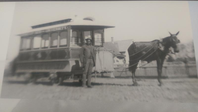 Wiley Griffin drove a mule-drawn trolley in Eugene in the late 1800s - early 1900s.