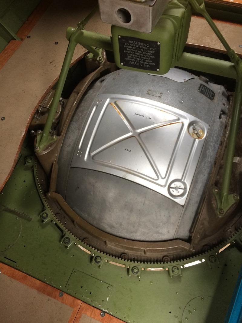 Ball turret entrance