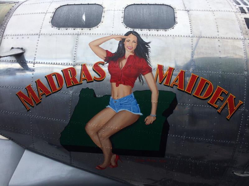 Madras Maiden nose art