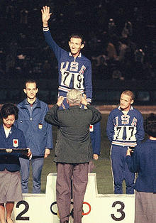 Bill Dellinger (right) won Bronze in 1964 Olympics