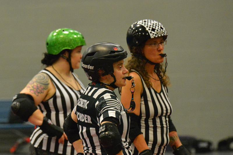 Roller Derby referees.