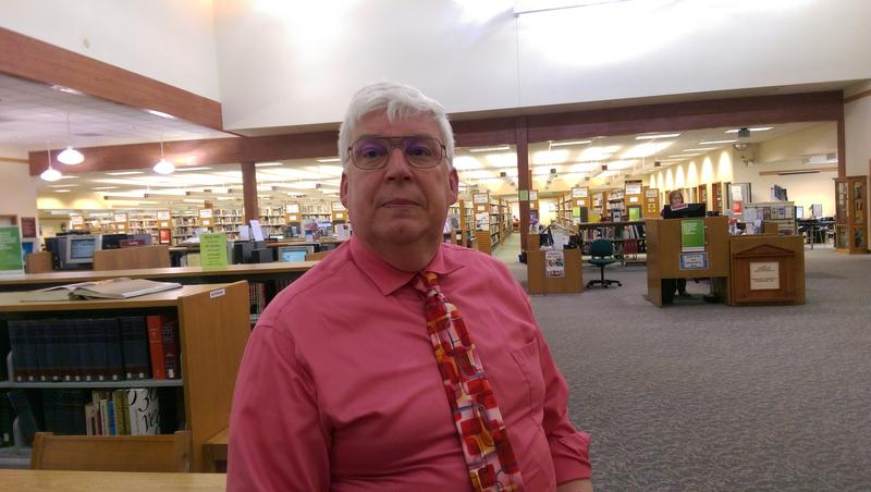 Library Director Harold Hayes inside the Roseburg Library