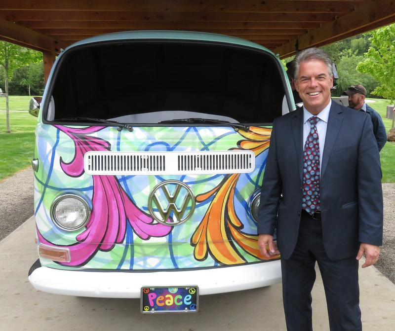 Mark Musgrove, with VW columbarium