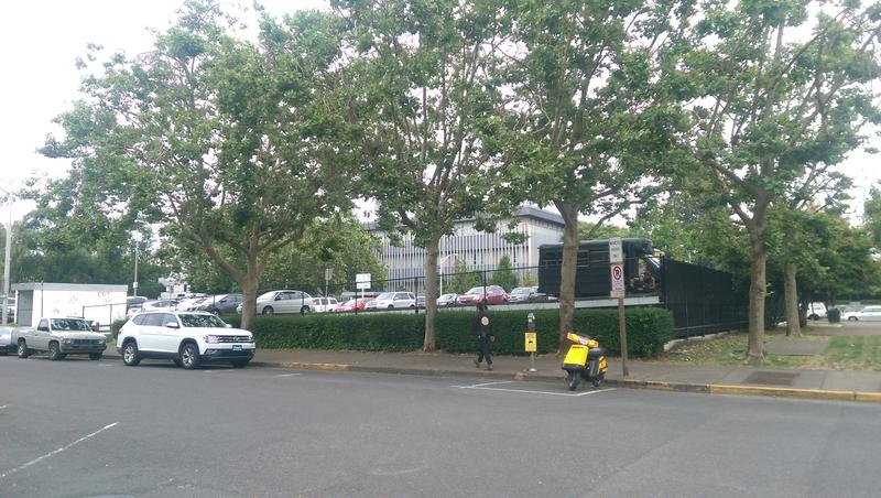The block which is now home to a Butterfly parking lot will be sold to Eugene for their new City Hall.