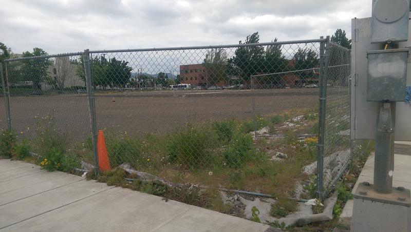 The block where the old Eugene City Hall once stood will be sold to Lane County for a new courthouse.