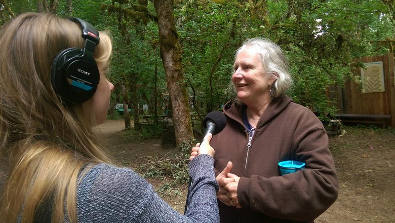 OCF archeologist Ann Rogers talks with KLCC's Franziska Monahan.