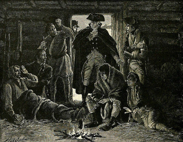Was Washington's camp at Valley Forge a colonial-era form of glamping?