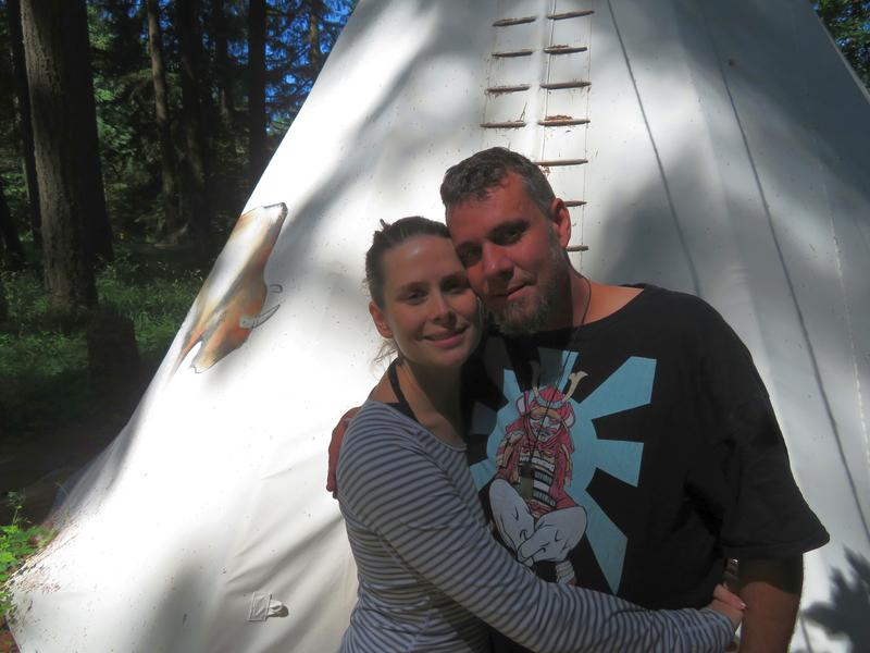 Dusty and Courtney Maxwell at Tipi Village Retreat