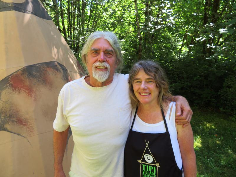 Ken Froebig and Janet Becker, owners of the Tipi Village Retreat in Marcola
