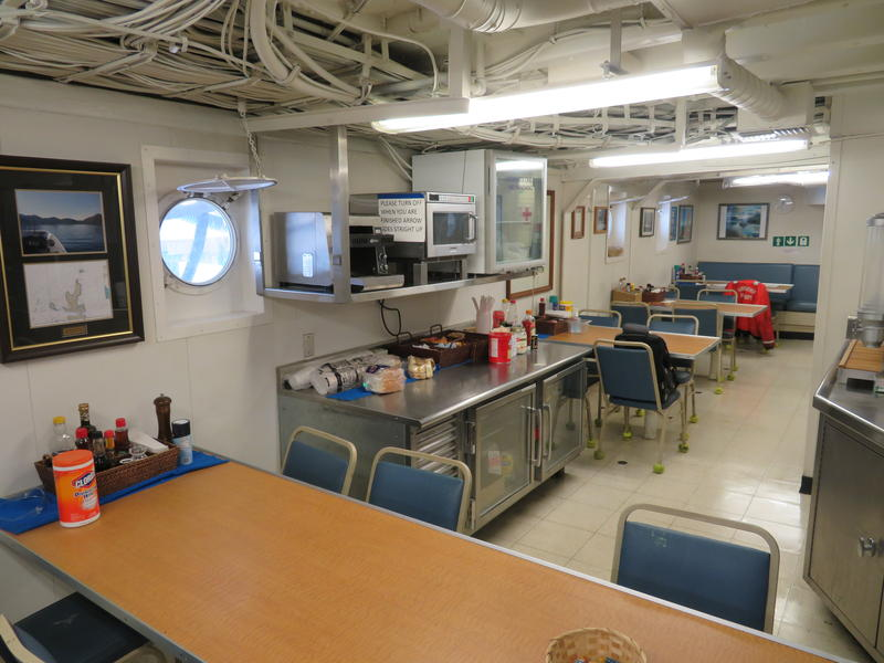 Crew's mess, where meals are served