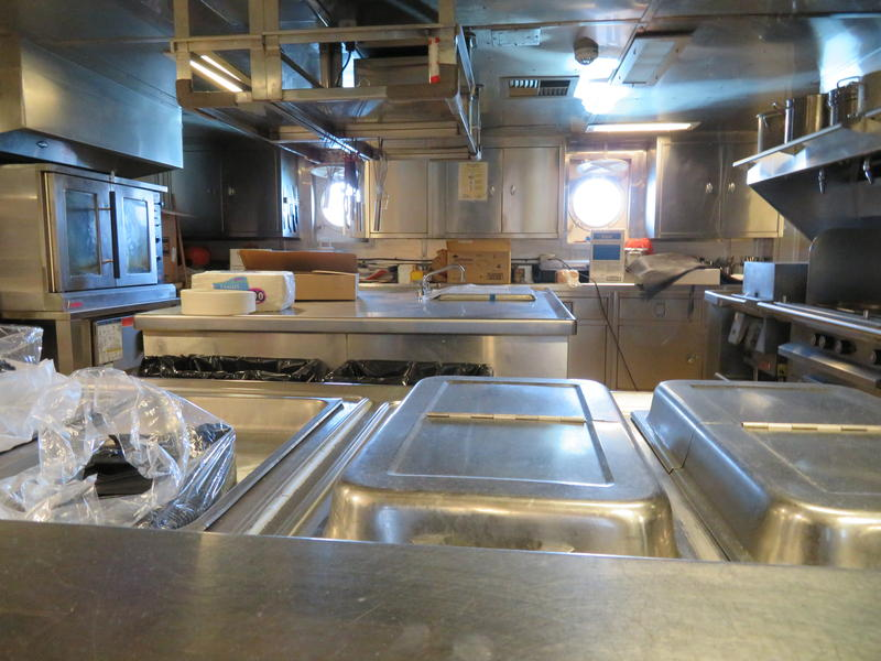 Galley, where food is cooked before serving