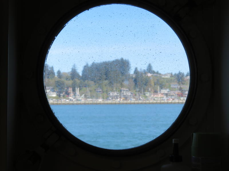 View of Newport from one of the Fairweather's portholes