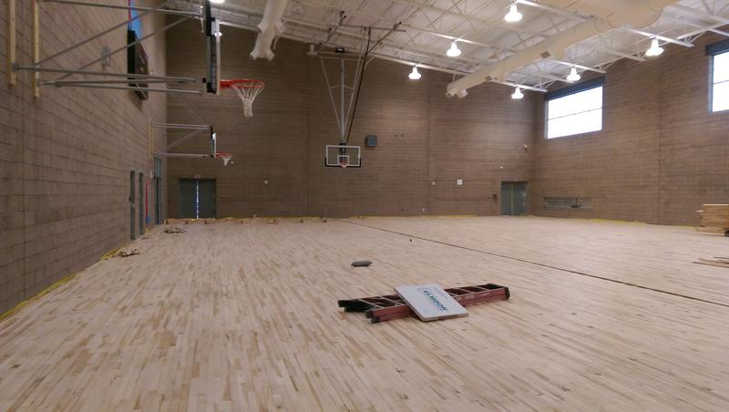 The new Hamlin gym will be much bigger than the old one.