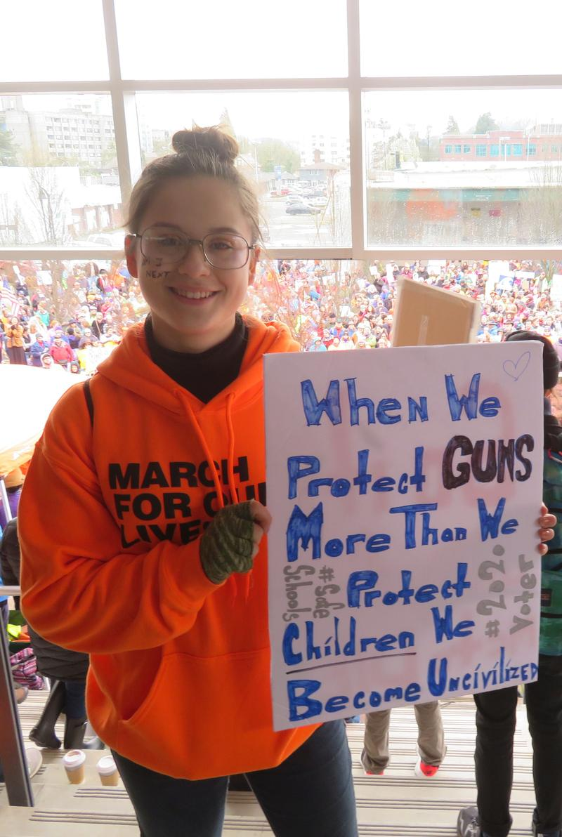 Cadence Rose, a student organizer from A3