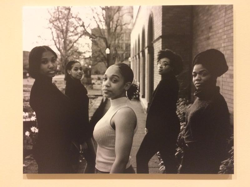 The executive board of Black Women of Achievement (from L to R: Desirae Brown, Joan Hicks, Kaya Lewis, Janae Houston, Dayja Curry), photographed by Ugochukwu Akabike