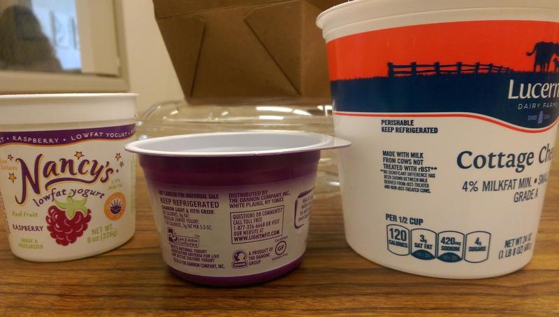 Plastic tubs like these are no longer accepted for recycling in Lane County.