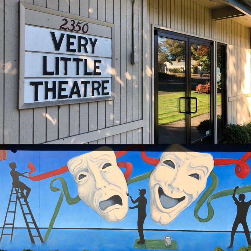 Exterior shots of The Very Little Theatre in Eugene.