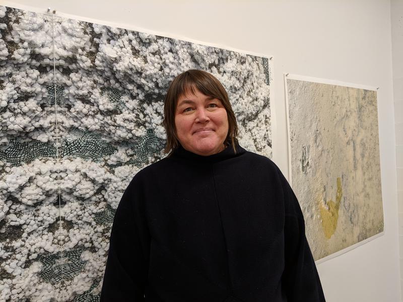 Laura Vandenburgh, Director of the UO School of Art + Design in her studio at 510 Oak.