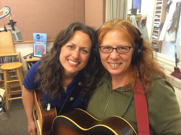 Beth Wood (left) and Anne Weiss (right) in the KLCC studios.