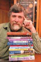 Bill Sullivan and some of the many books he's authored.