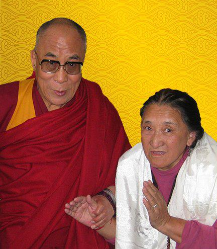 Lady Palmo (right) with His Holiness the Dalai Lama