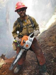 Firefighter Sawyer on Deception Complex Fire