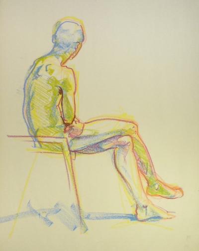 Nude figure sketch you cannot