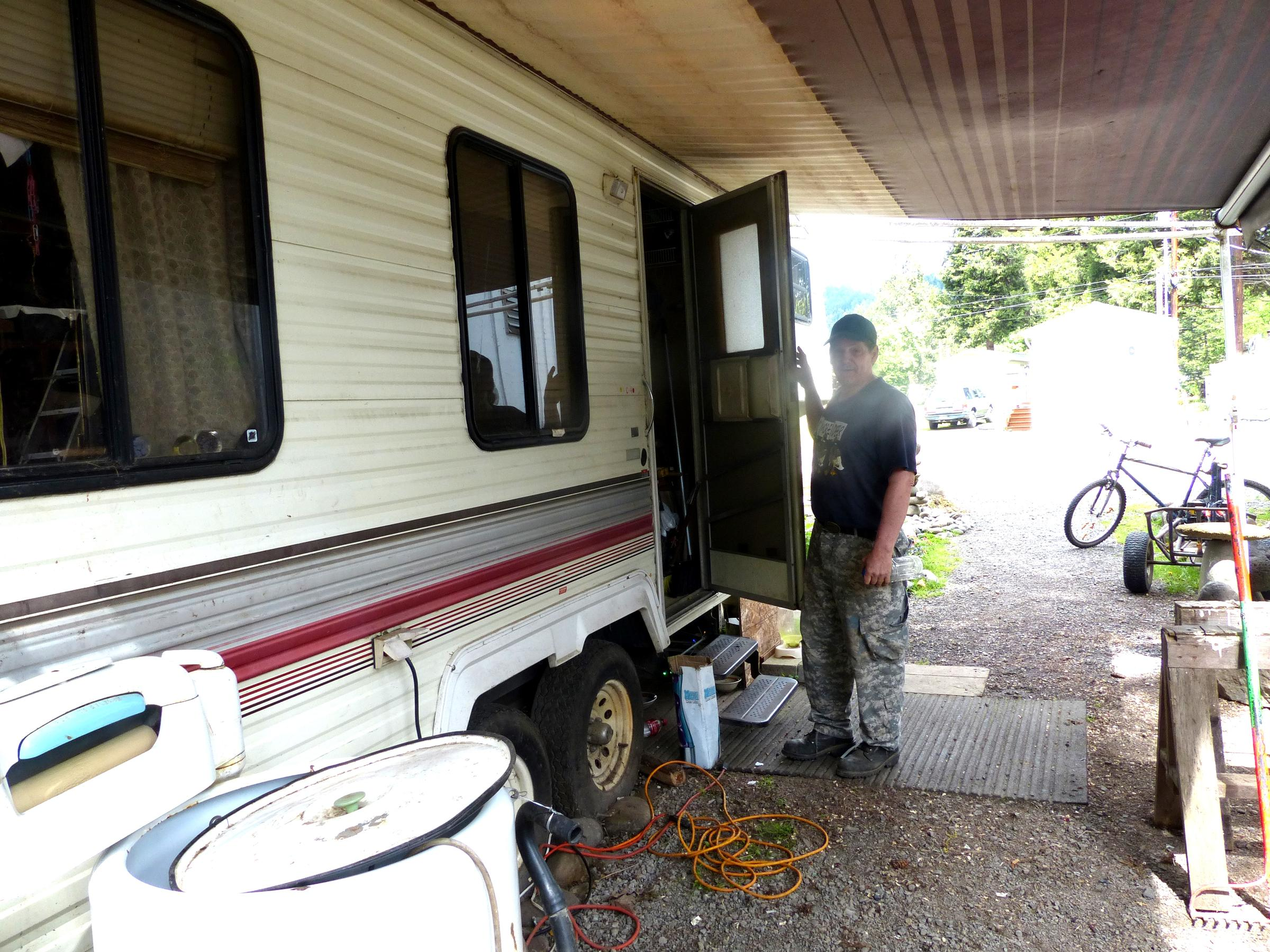 Glen Brewer Has Lived In This 5th Wheel Trailer At Oakridge Mobile Home Park For 10 Years