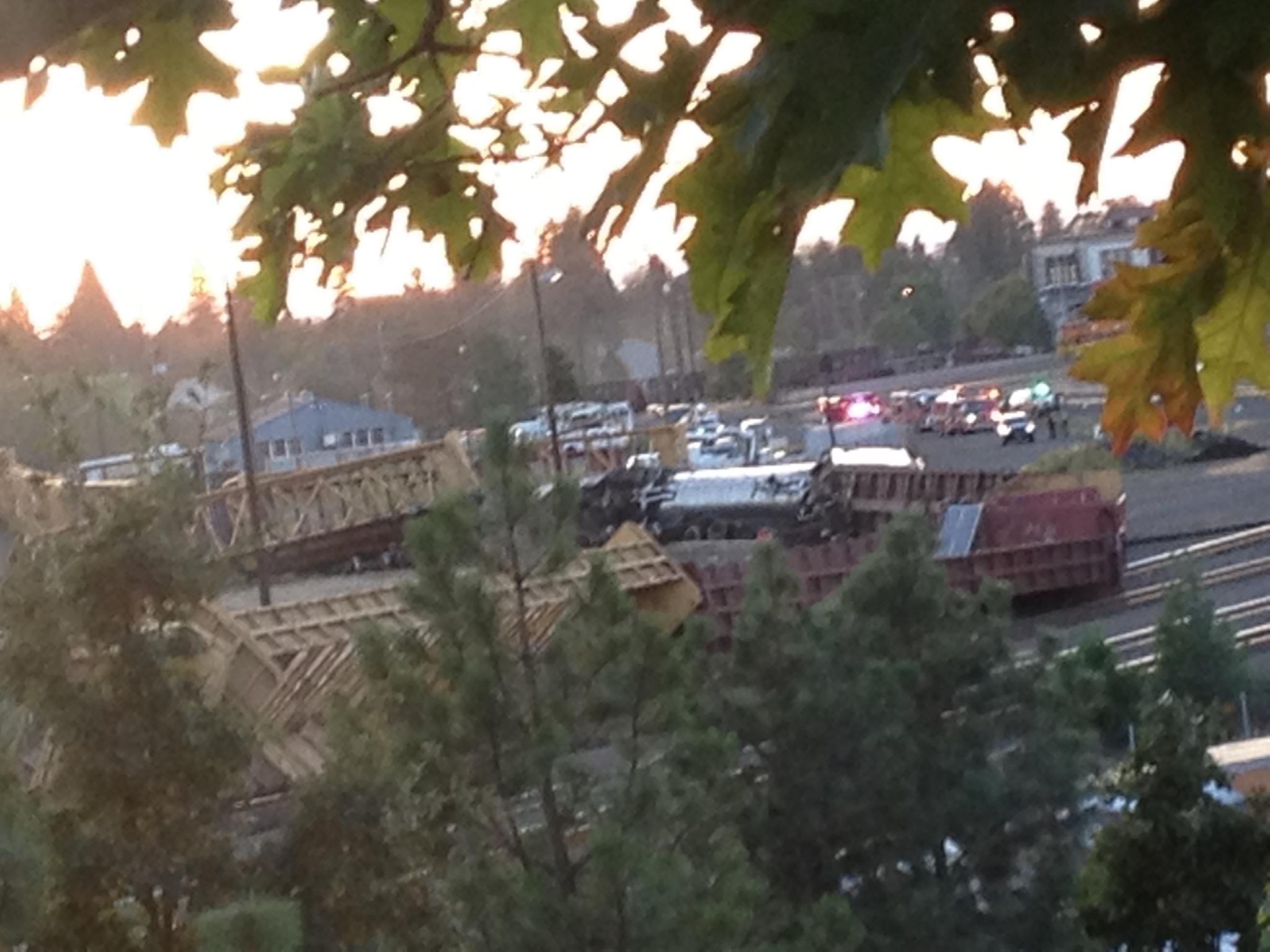 13-car train derailment in Eugene prompts hazmat measures