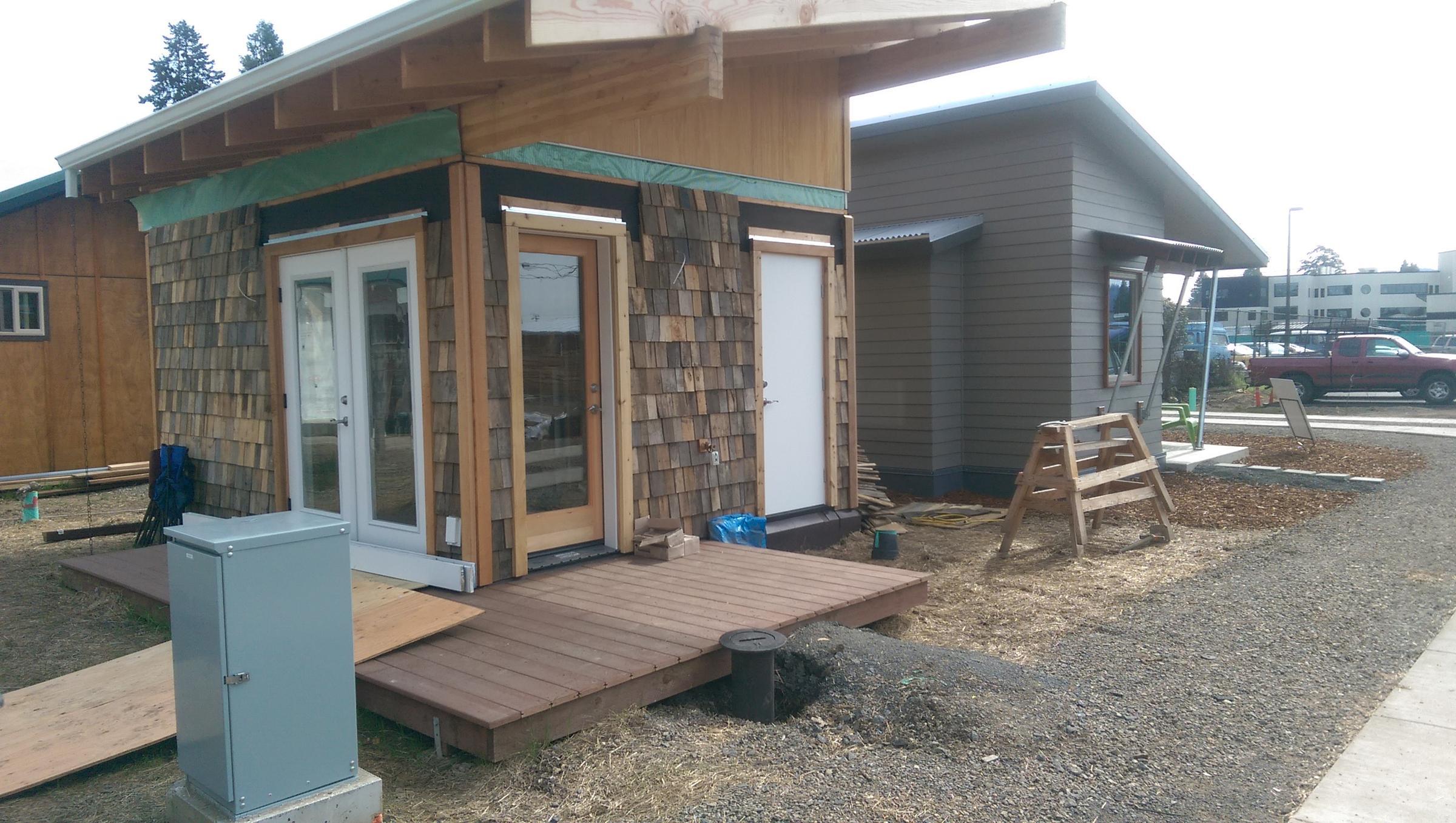Tiny House Village Nears Completion In Eugene