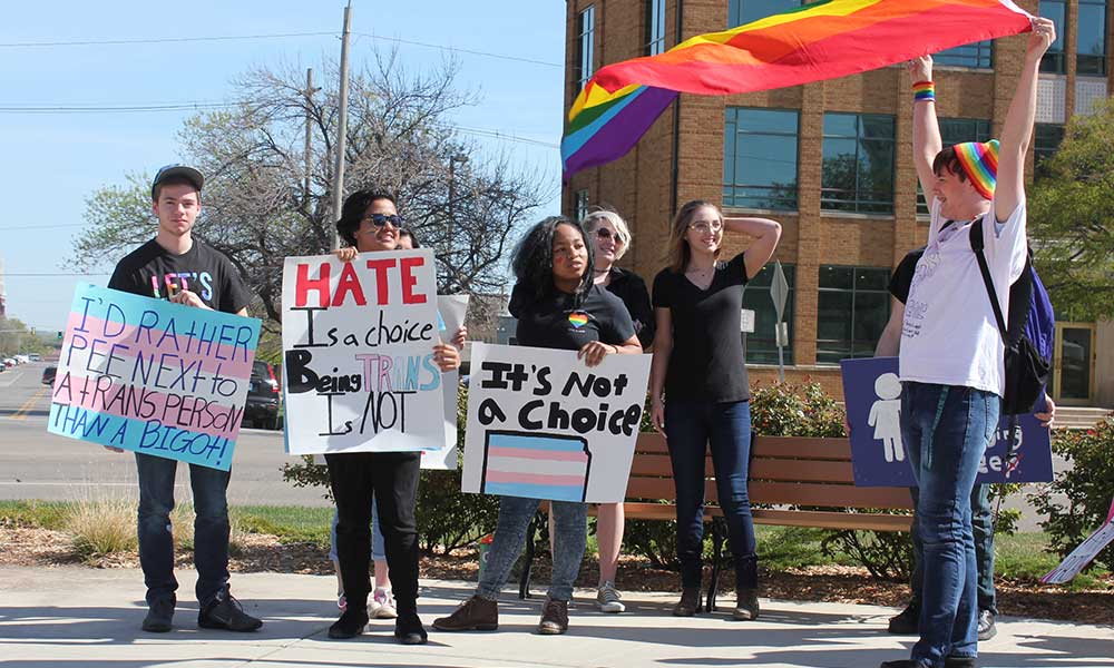 kansas students protest transgender bathroom bill | kmuw