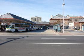 The transit center in downtown Wichita.