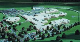 A representation of the juvenile justice facility in Topeka.